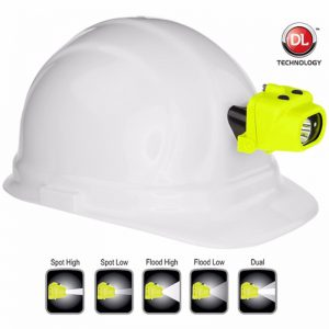 Intrinsically Safe Dual-Light™ Headlamp w/Hard Hat Clip & Mount