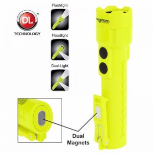 Intrinsically Safe Permissible Dual-Light™ Flashlight w/Dual Magnets