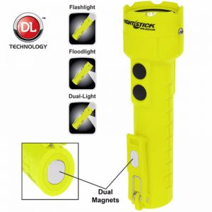 Intrinsically Safe Permissible Dual-Light™ Flashlight w/Dual Magnets - Rechargeable