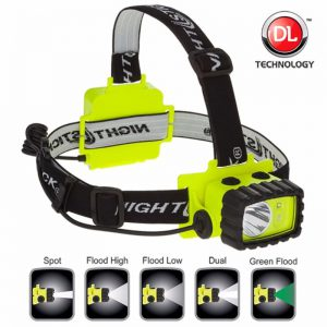 Intrinsically Safe Permissible Multi-Function Dual-Light™ Headlamp - Green Floodlight