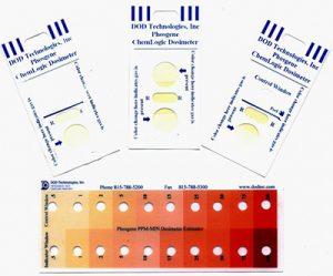 ChemLogic Phosgene (COCL2) Dosimeter Badges