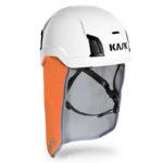 Neck shade with helmet